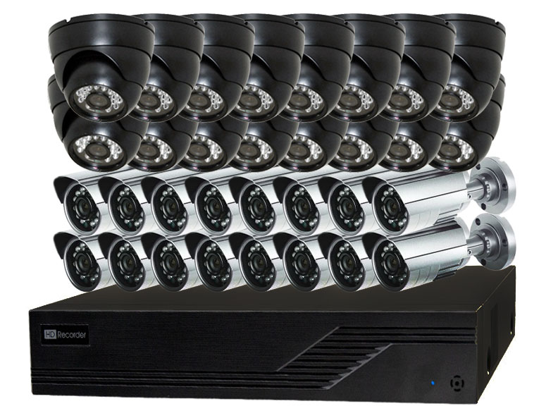16 to 32 Camera Video Security Camera Systems for Home and Business