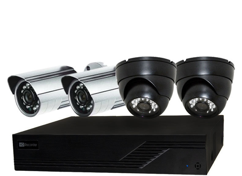 1 to 4 Camera Video Security Camera Systems for Home and Business