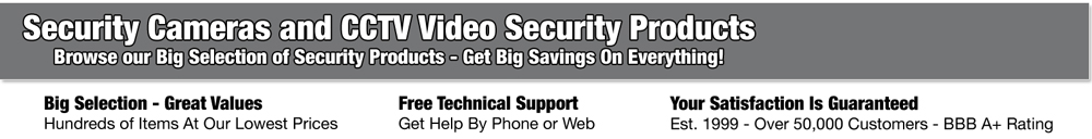 Security Cameras Hidden Cameras and Other Video Security Products
