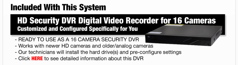 Included With This System HD Security DVR Digital Video Recorder for 4 Cameras Customized and Configured Specifically for You